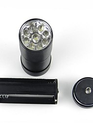 LED Flashlights/Torch / Black Light Flashlights/Torch / Handheld Flashlights/Torch LED 1 Mode Lumens Waterproof 5mm Lamp AAA