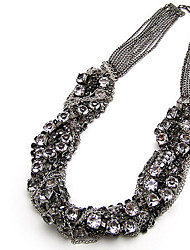 Korea tar Powerful Rhinetone Chain Twited Necklace