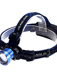 K16 Rechargeable 3-Mode 1xCree XM-L T6 Waterproof Headlamps(2x18650,1200LM)Blue