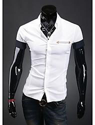 HF Мужская Основные рубашка с коротким рукавом 9081