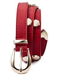 Women Skinny Belt/Waist Belt , Vintage/Party/Casual Leather/Alloy