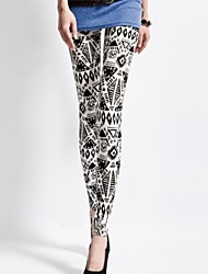 moda spandex leggings impressão totem Retrostyle das mulheres