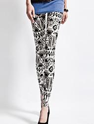 spandex moda leggings RetroStyle impresión tótem de las mujeres