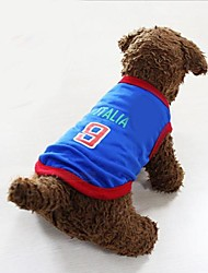 New 2014 World Cup Soccer Sports Italian Vest  for Pet Dogs(Assorted Size)