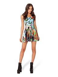 De las mujeres Vestido Casual / Bonito Mini Mezclas de Algodón