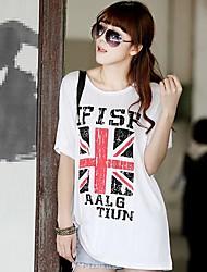 Women's High Quality Print  Short Sleeve  Modal Stretch Loose Big Yards Jack Millet T-Shirt
