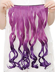 High Temperature Resistance Two-tone 20 Inch Long Curly 5 Clip Hairpiece Extension 9 Colors Available