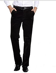 Autumn and Winter Corduroy Trousers Loose Thickened Men's Pants Straight Tube with Velvet Pants