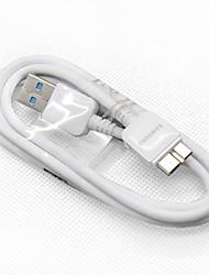 USB-3.0-Stecker auf Stecker Daten-Ladekabel Weiß (95cm) für Galaxy ANMERKUNG 3