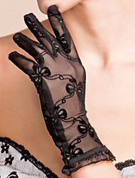 Wrist Length Fingertips Glove Lace Bridal Gloves Party/ Evening Gloves Spring Summer Fall