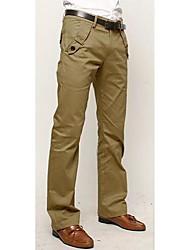 Tiempo libre Pantalones del color sólido de los hombres