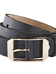 Evergold Lady's Gold Buckle Split Leather Belt