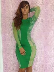 Женская Экспорт Печать Мода колющими Ночной клуб платье