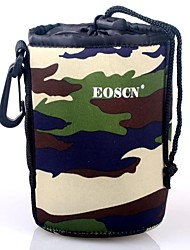 EOSCN Camouflage Pattern Protective Neoprene Bag for DSLR Camera Lens - Green (Size M)