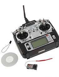 Flysky FS-T6 6ch 2.4G with LCD Screen Transmitter + Receiver For Heli Plane(Mode 2)