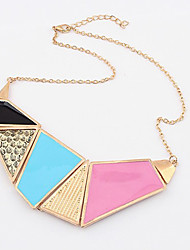 Livin Color Block Multi-Color Sweater Necklace