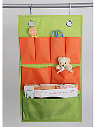 Lovely Beautiful Orange and Green Mixed Household Suspending Storage Bag