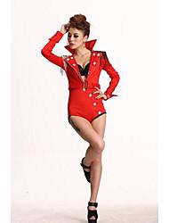 Женщины Красные ведущий танцор Костюмы Клуб Комбинезон Брюки