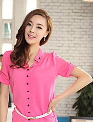 Hanyi Style Korean Yards Blouses Shirt(Fuchsia)