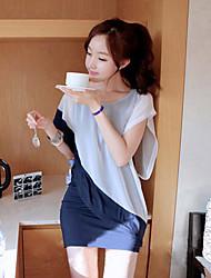 Mujeres Kinglee coreana de la gasa de dos piezas como el vestido