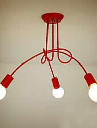 Lámparas Araña ,  Moderno / Contemporáneo Pintura Característica for Estilo de la vela Metal Sala de estar Dormitorio Comedor