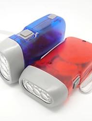 Прозрачные 3 светодиодные фонари ручной нажав Flash Light открытом воздухе Ночной бытовую лампу для кемпинга Альпинизм