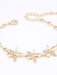 Alloy Flower Chain & Link Bracelets