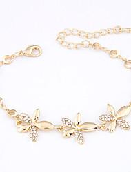 Legierungs-Blumen-Chain & Link-Armbänder