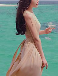 vestito lungo chiffon elegante delle donne meiqian