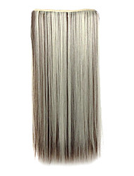 High Temperature Resistance Mixs Color 20 Inch Long Straight 5 Clip Hairpiece Extension 4 Colors Available