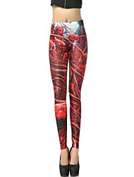Elonbo The Bloody Skull Style Digital Painting Tight Women Leggings