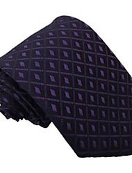 Homens Itália Estilo manta Lazer Roxo Negócios Dot Microfibra gravata