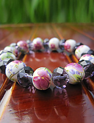 z&X® vento nacional clássico subiu padrão handmade 24 centímetros pulseira vertente cerâmica das mulheres (1 pc)