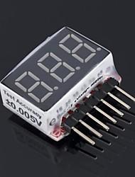 Индикатор проверки Тестер RC 1S-6S Lipo Напряжение батареи