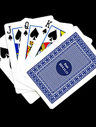 Cadeau personnalisé Bleu motif de vérification des cartes de jeu pour Poker