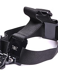 TOZ  TZ-GP136  Plastic + Elastic + Stainless Steel Head Belt with Mount Adapter for Gopro / Sony + More - Black