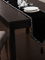 Black Rectangular Table Runners