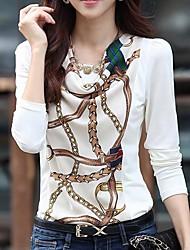 Women's Cowl Long Sleeve Chiffon T-shirt
