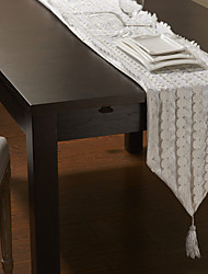 White Rectangular Table Runners