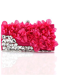 Women Silk Wedding Evening Bag Pink / Green / Silver / Black / Fuchsia