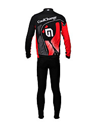 CoolChange Men's Cycling Tracksuit Long Sleeve Bike Spring / AutumnThermal / Warm / Waterproof / Breathable / Quick Dry / Dust Proof /