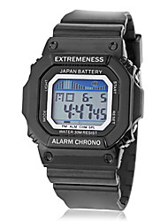 Men's Spectrum LCD Digital Square Dial Silicone Band Sporty Wrist Watch (Assorted Colors)