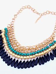 Women's Choker Necklaces Statement Necklaces Drop Jewelry Acrylic Alloy Tassel Adjustable Bohemian Vintage Festival/HolidayOrange Rose