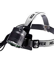 L33 Rechargeable 3-Mode 5xCree XM-L2 T6 Waterproof Headlamps(1xC-Cell,5000LM)Gray