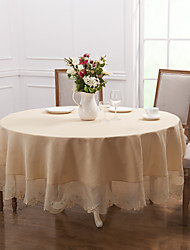 White Polyester Round Table Cloths