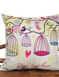 Cute Cartoon Gird And Flower Pattern Decorative Pillow Cover