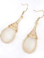 Delicate Alloy with Opal Drop Earrings