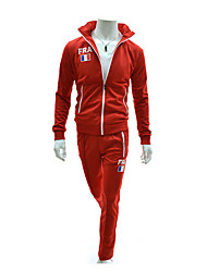 HF Men's Solid Color Zipper Suit
