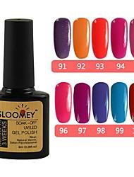 10Pcs SLOOMEY UV Color Gel Polish NO.91-100 (8ml, Mix Color) 10 Color Gel Set