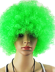Black Afro Wig Fans Bulkness Cosplay Christmas Halloween Wig Light Green Wig 1pc/lot